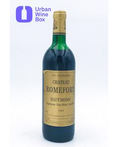 "Romefort ""Haut-Médoc"" 1987 750 ml (Standard)"